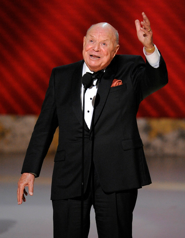". Don Rickles is honored for best individual performance in a variety or music program for ""Mr. Warmth: The Don Rickles Project,\"" at the 60th Primetime Emmy Awards in Los Angeles, Sunday, Sept. 21, 2008.  (AP Photo/Mark J. Terrill)"
