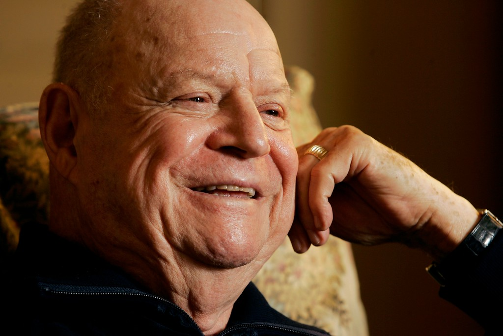 ". Comedian Don Rickles responds during an interview in New York, May 18, 2007, about his memoir ""Rickles\' Book\""  (AP Photo/Richard Drew)"