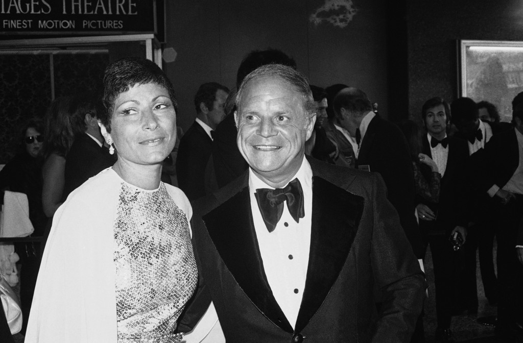 . Don Rickles with wife Barbara arrive at Pantages Theater in Hollywood on May 28, 1974, for the annual television Emmy Awards. (AP Photo)
