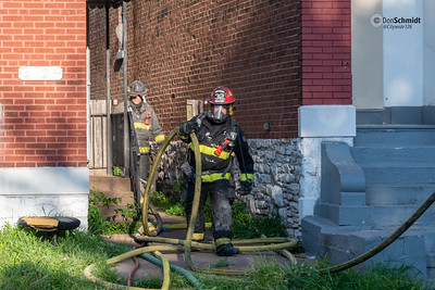 1st alarm, 3 LSO, fire in an occupied 2 story brick, 2019 July 22