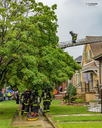 Chicago Still 3935 W 61 Pl - Lightning strike, occupied 1-1/2 story single family dwelling