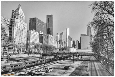 Chicago in HDR-B&W