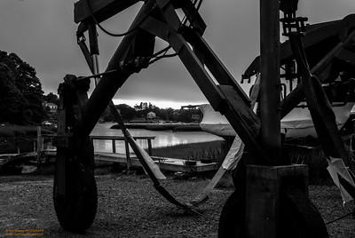 """Boat Yard Work Horse "" Montgomery's Boat Yard Gloucester, Massachusetts"