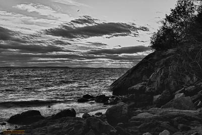 Plum Cove - Gloucester, MA (HDR-B&W)
