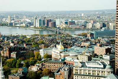 Boston-A Skyscrapper's View -3:  Longfellow Bridge to Cambridge