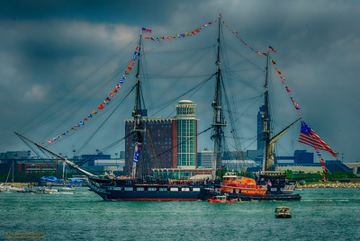 """U.S.S Constitution's Annual Turn Around"" Boston Harbor Boston, Massachusetts"