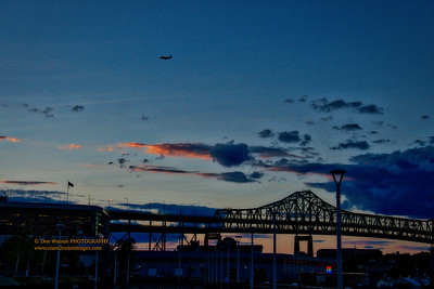 """Tobin Bridge over the Mystic River"""