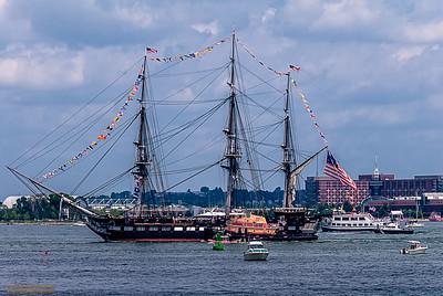 """HAPPY 4th!"" USS Constitution turn around in Boston Harbor"