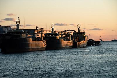 Trawlers at Dusk, Gloucester Harbor