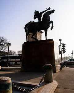 """Indian on Horseback"" Silhouette - Grant Park, Chicago"