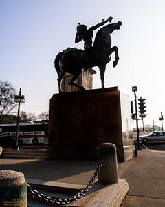 """""""Indian on Horseback"""" Silhouette - Grant Park, Chicago"""