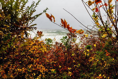 """Angry Sea - Autumn Refrain"" Hurricane Sandy - Magnolia Shore Road, Gloucester, Massachusetts"