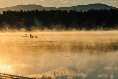 """Morning Mist"" - Lovewell Pond, Fryeburg, Maine"