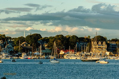 """Hints of Autumn over Beverly Harbor"""