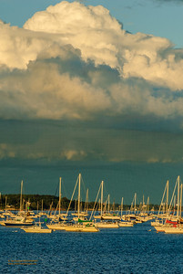 """Shelf Clouds Over Beverly Harbor"""