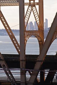 Downtown Manhattan framed by the 59th Street Bridge