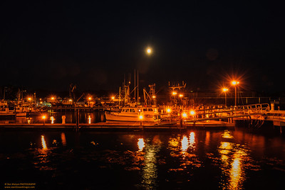 """In Port - In Perigee"" Super Moon over Gloucester Harbor"