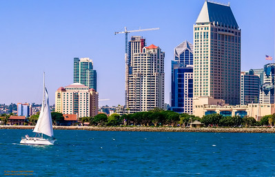"""""""Sailing by the City"""" San Diego, California"""