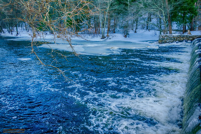 "Winter on the Ipswich River"" Ipswich, Massachusetts"