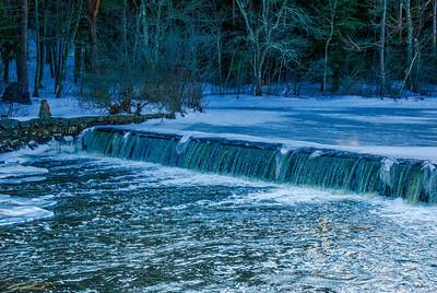 """Ipswich River Falls"" Ipswich, Massachusetts"