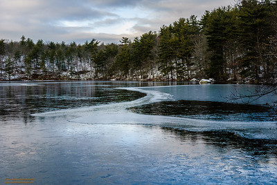 """Buswell Pond in Winter"" Gloucester, Massachusetts"