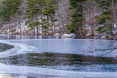 """A Winter's Afternoon"" Buswell Pond Gloucester, Massachusetts"
