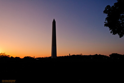 Sunrise at the Washington Monument, Washington, DC
