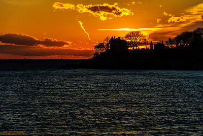 """Magnolia Glow - Winter"" off Magnolia Beach Gloucester, Massachusetts"