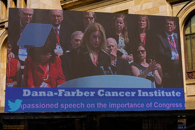 """""""Jumbo Screen at Rally for Medical Research"""" on the grounds of the Carnegie Library Washington, DC"""