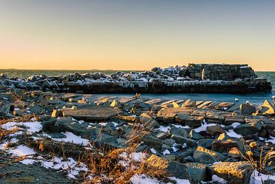 """""""Blizzard's Footprint"""" Lane's Cove Gloucester, Massachusetts"""