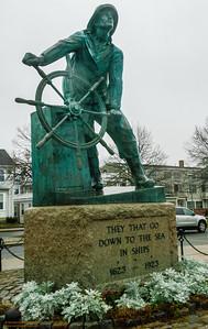 """""""Remember"""" - Fisherman's Statue on the Boulevard, Gloucester, Massachusetts"""