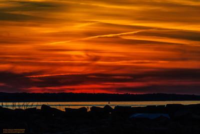 """""""Cinnabar Sky"""" Lane's Cove Gloucester, Massachusetts"""