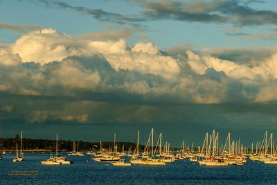 """Beverly Harbor Shelf Clouds at Dusk"""