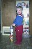 Scott Kremer stacks cans