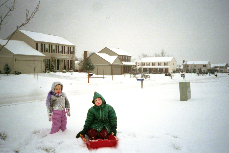 January 1989 - Snowy Day at 1547 Grandview
