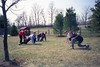 Playing outside at 2204 Stonewall - Early April, 1994
