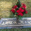 Cherie Kremer gravesite with Poinsetta - Nov 27, 2016
