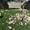 Busted wall at 3065 Windsong - Jun 6, 2016