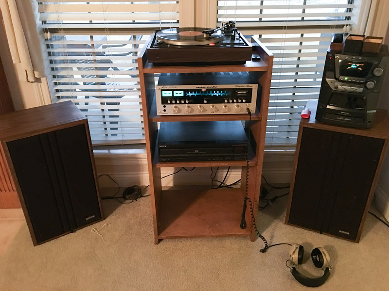 The old stereo - reassembled - Mar 11, 2016
