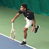 Karthik Garimella - playing tennis at the Hendrix court