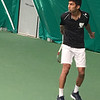 Karthik Garimella - playing tennis at the Hendrix court