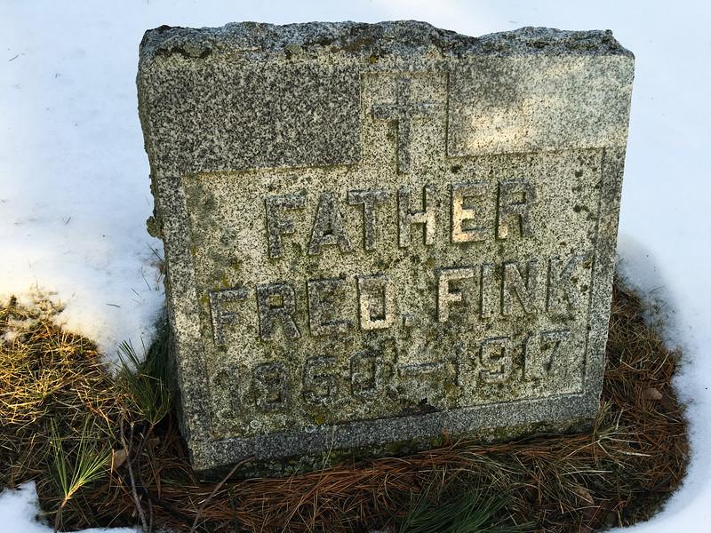 Cemetery for Most Holy Trinity Church, Fowler MI - Mar 7, 2016
