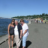 Shelby, Dorothy and Carol at Alki Beach, Seattle
