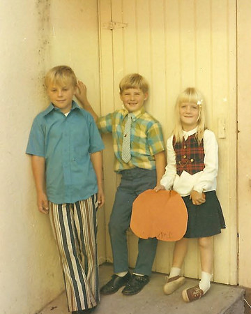 Alan and Judy with friend at church, Abt. 1969-70