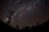 Meteor over Milky Way