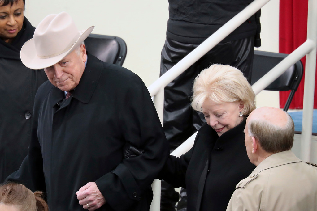 . Former Vice President Dick Cheney and his wife Lynne arrive during the 58th Presidential Inauguration at the U.S. Capitol in Washington, Friday, Jan. 20, 2017. (AP Photo/Andrew Harnik)