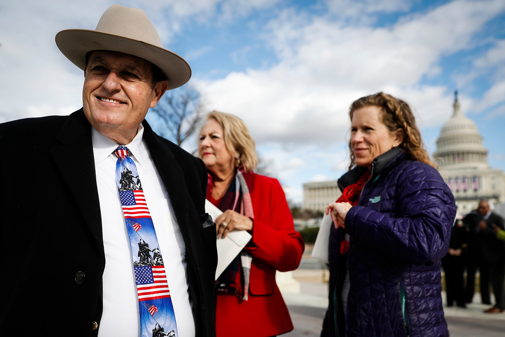 . Dr. John Tisdale of  McAllan, Tex.as visits the National Mall in Washington, Wednesday, Jan. 18, 2017, as preparations continue for Friday\'s presidential inauguration. (AP Photo/John Minchillo)