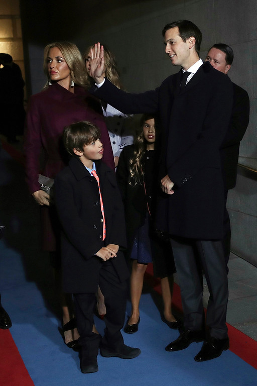 . Jared Kushner, senior advisor to President-elect Donald Trump, right, and Vanessa Trump arrive on the West Front of the U.S. Capitol on Friday, Jan. 20, 2017, in Washington, for the inauguration ceremony of Donald J. Trump as the 45th president of the United States. (Win McNamee/Pool Photo via AP)