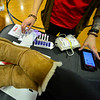 KRISTOPHER RADDER — BRATTLEBORO REFORMER<br /> Laura Fiandaca, a phlebotomist for American Red Cross, goes over materials before collecting blood from Whitney Patterson during a blood drive in honor of Grady Oliver Evans at Bellows Falls Union High School, in Westminster, Vt., on Saturday, Feb. 29, 2020.