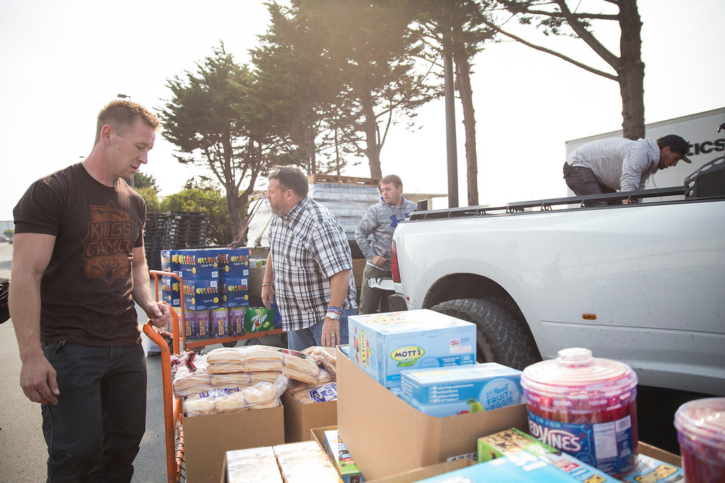 . Cody Kind will be headed down with 1st District Supervisor Rex Bohn to Santa Rosa, where they will stay for the next three days to help in any way they can.  (Sam Armanino - The Times-Standard)